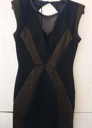 Платье черное с люрексом