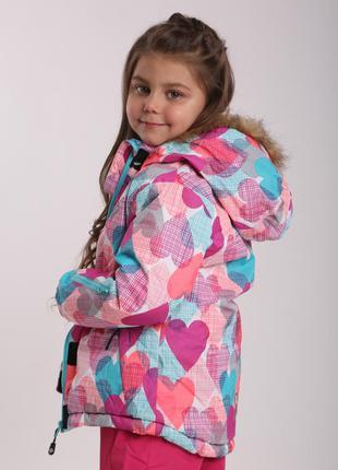 Зимняя куртка на девочку р.104-140 чехия премиум-качество