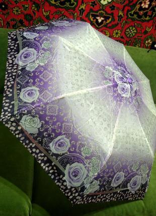 Зонт,зонтик полуавтомат сиреневый парасолька