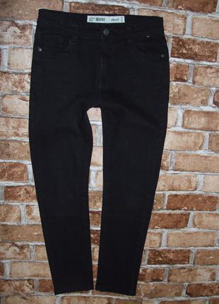 Стильные джинсы черные мальчику 10 - 11 лет denim co скинни