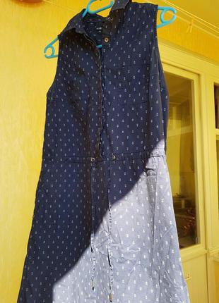 Летнее платье-туника в Одесском стиле