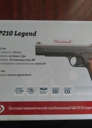Пистолет пневматический газобаллонный SAS P210