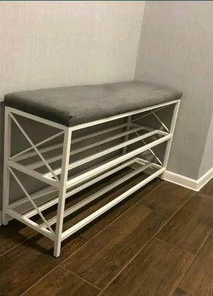 Мебель для прихожей, банкетка, обувница этажерка вешалка для одеж