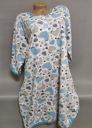 Ночная сорочка женская байковая