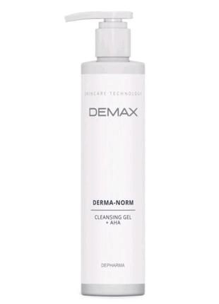 Очищающий гель с ана кислотами derma-norm cleansing gel 250 мл...