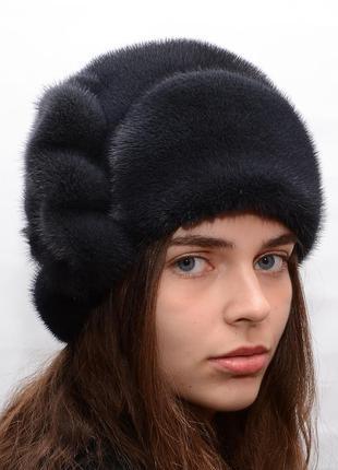 Меховая зимняя норковая шляпа