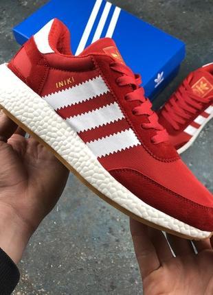 Красные замшевые женские демисезонные кроссовки адидас adidas ...