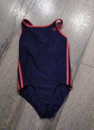 Adidas infinitex,оригинал темно синий антихлорный купальник дл...