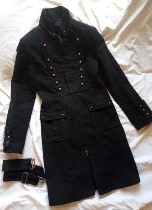 Пальто черное классическое готическое