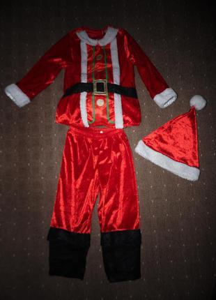 Новогодний костюм дед мороз george 2-3 года