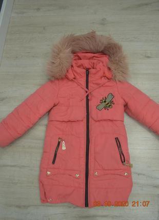 Зимняя курточка, пальто, пуховик на девочку