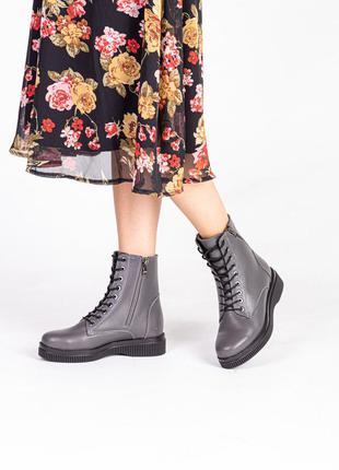 Стильные женские натуральная кожа ботинки