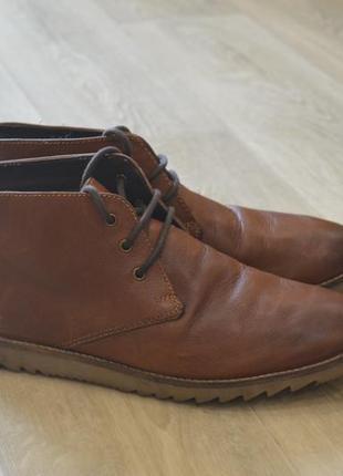 Sole мужские ботинки дезерты кожа оригинал весна
