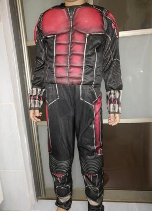 Карнавальный костюм супергероя человек муравей/ ant man с муск...