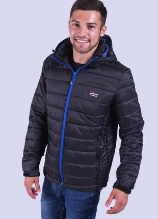 Куртка ветровка мужская черная Avecs AV-02# Black Размеры XXL/52