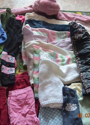 Пакет вещей на девочку 1,5-3 года (осень, зима)