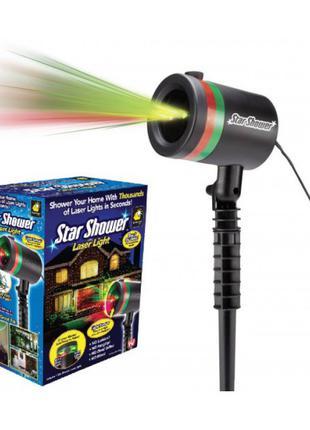 Лазерный звездный проектор star shower laser light для дома улицы