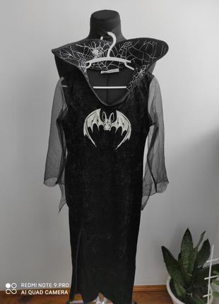 Карнавальный, костюм на хеллоуин готический, королева, вампирш...