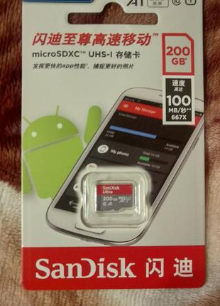 Micro SD SanDisk Ultra 64GB 200GB Class 10 UHS-I M100 MB/s