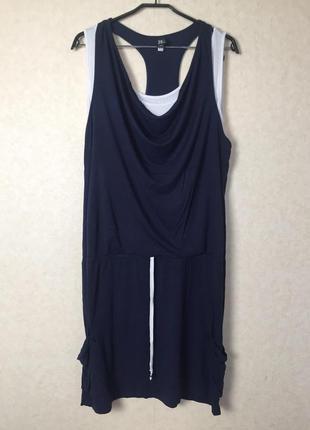 Стильное необычное платье в спортивном стиле с карманами от be...