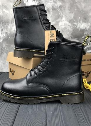 Женские \мужские чёрные зимние ботинки\сапоги dr martens 1460 ...