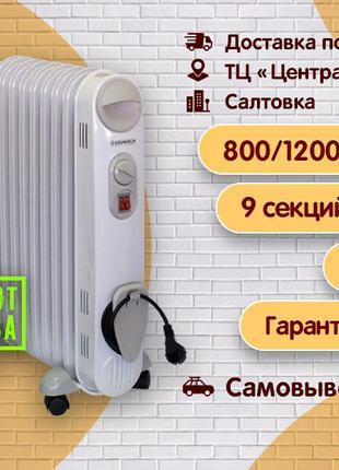 Масляный обогреватель GRUNHELM GR-0920S, обогреватель, электро...