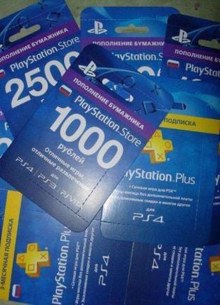 PlayStation Plus для PS3, 4, Vita (PSN Plus, Карты пополнения ...