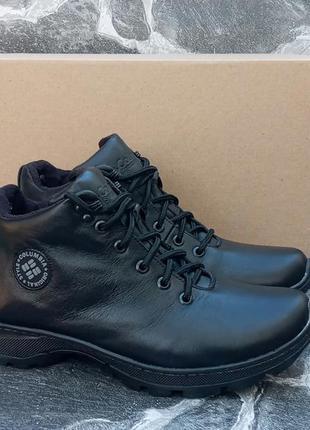 Мужские зимние ботинки columbia classic winter boots ,черные,к...