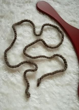Актуальный пояс шнурок верёвка из шерсти 100%