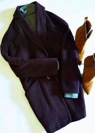Стильное пальто бойфренд от top shop - цвет марсала 34 размера!