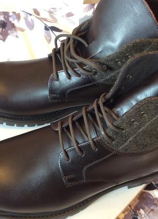 Новые ботинки, мужские зимние, кожаные