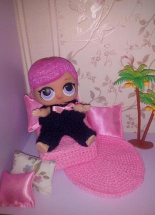 Кресло для кукол Лол. Мебель для кукольного домика.