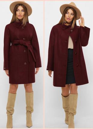 Стильное шерстяное пальто прямого силуэта * отличное качество