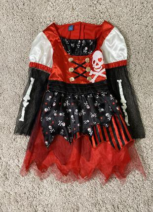 Карнавальное платье пиратка хэллоуин halloween
