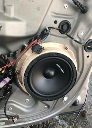 Подиумы под динамики на Skoda Octavia A5