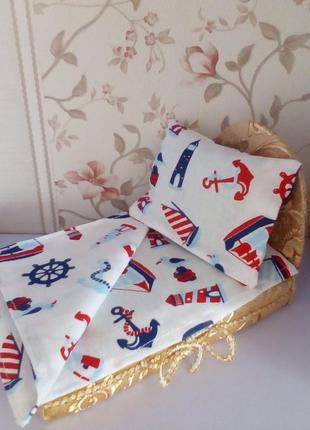 Кровать и постель для кукол Лол. Ручная работа!