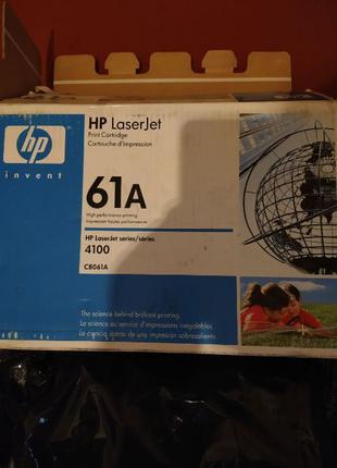 Картридж HP C8061A (61A) для принтера HP LaserJet 4100 ориг