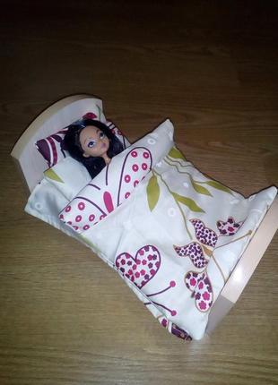 Кровать и постель для Барби, Монстер Хай, Эвер Хай. Ручная работа