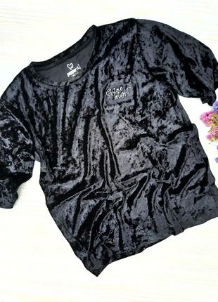 Бархатная футболка на девочку