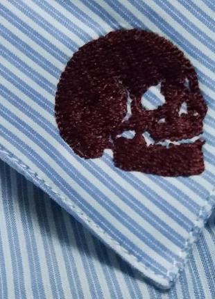Рубашка с черепами на воротнике от the kooples | оригинал
