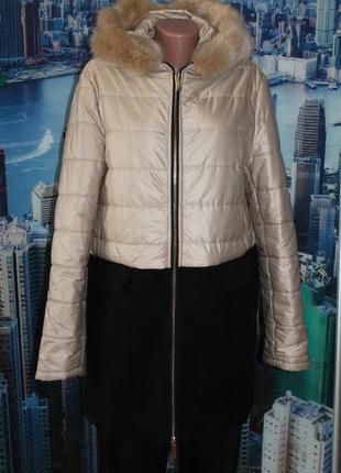 Комбинированная куртка пальто италия