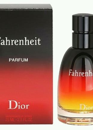 Christian Dior Fahrenheit 75 ml Мужской парфюм