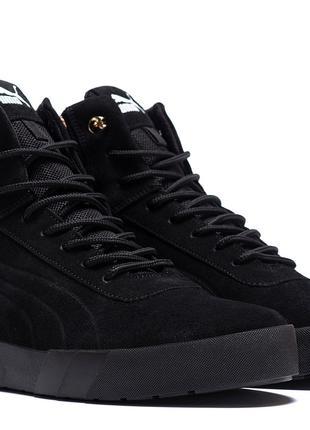 Мужские зимние кожаные ботинки Puma