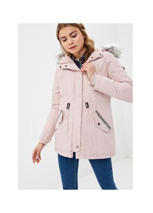 Парка куртка удлиненная с синтепоном zabaione с мехом