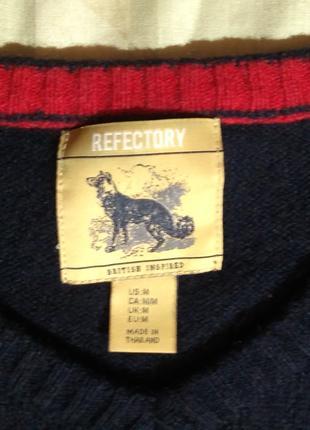 Джемпер мужской Refektory lambswool 80% овечья шерсть М размер