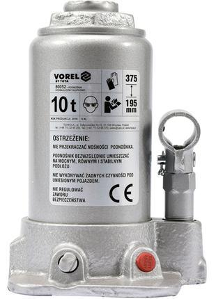 Домкрат бутылочный гидравлический для авто 10т Vorel 80052