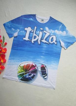 Классная легкая футболка с морским принтом и надписью ibiza