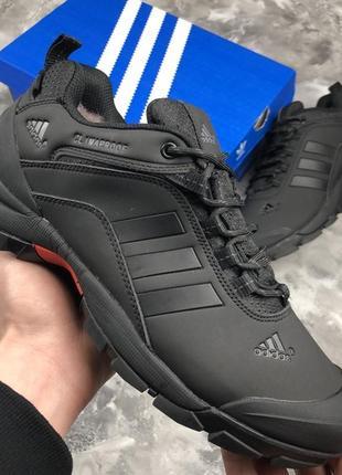 Мужские ❄️зимние❄️кроссовки адидас adidas climaproof. чёрные