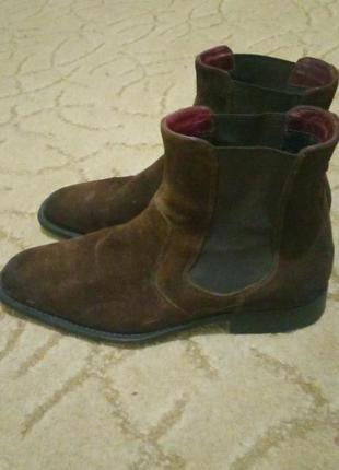 Замшевые ботинки tommy hilfiger