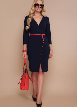 Элегантное синее платье/батал
